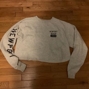 Pacsun cropped crew neck